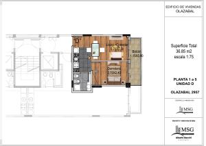 Unidad D pisos 1 a 5