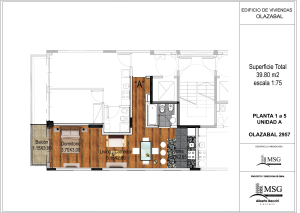 Unidad A pisos 1 a 6