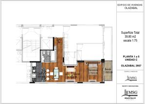 Unidad C pisos 1 a 6
